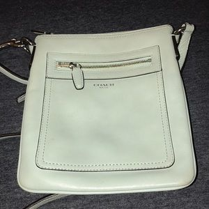 Mint green Coach crossbody purse